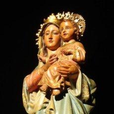 Arte: NUESTRA SEÑORA DEL SAGRADO CORAZÓN DE JESÚS DORADA AL ORO FINO.. Lote 186375300