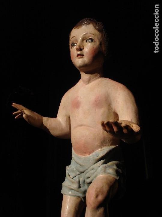 Arte: ANTIGUA TALLA DE MADERA NIÑO JESUS DE FINALES DEL XVIII - Foto 2 - 186375663