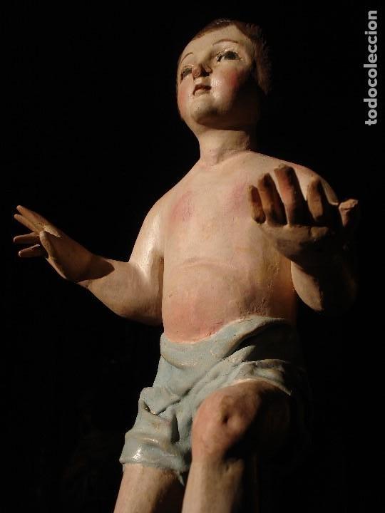 Arte: ANTIGUA TALLA DE MADERA NIÑO JESUS DE FINALES DEL XVIII - Foto 4 - 186375663