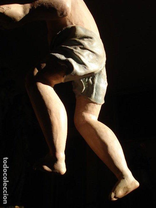 Arte: ANTIGUA TALLA DE MADERA NIÑO JESUS DE FINALES DEL XVIII - Foto 6 - 186375663