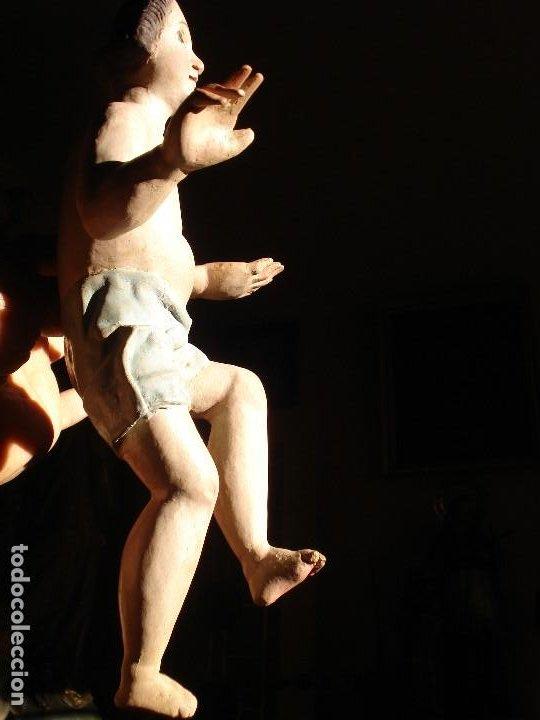 Arte: ANTIGUA TALLA DE MADERA NIÑO JESUS DE FINALES DEL XVIII - Foto 8 - 186375663