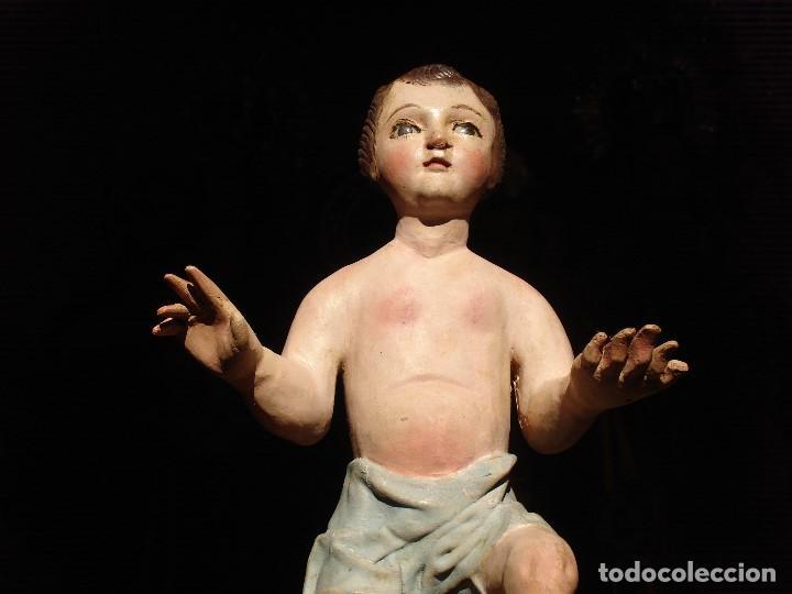 Arte: ANTIGUA TALLA DE MADERA NIÑO JESUS DE FINALES DEL XVIII - Foto 10 - 186375663