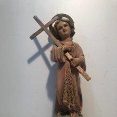 Arte: NIÑO JESUS DE ESTUCO ANTIGUO, MODELO OLOT. 32CM. Lote 186376398