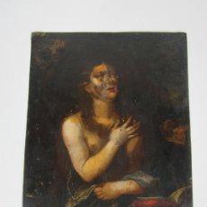 Arte: PRECIOSA PINTURA AL ÓLEO SOBRE COBRE - SANTA MAGDALENA - S. XVII. Lote 186428101