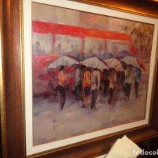 Arte: OLEO JORDI VALLBONA I SADURNI. TITULO BUZ DEL AÑO 2003 OLEO 56X46. ENMARCADO 72X64. DEDICADO. Lote 187093903