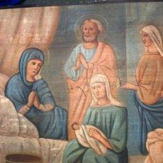 Arte: ICONO ORTODOXO, NACIMIENTO DE JESUS. Lote 187103378