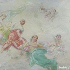 Arte: EMILIO SALA FRANCÉS : ( 1850 - 1910 ) REPRESENTA: FIGURAS ALEGÓRICAS. Lote 187178025