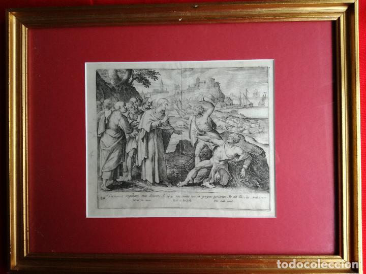 JAN O JOHANNES GALLE : FECHA: (1600-1676) BÉLGICA . (Arte - Arte Religioso - Grabados)