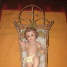 Arte: ANTIGUO NIÑO JESÚS OJOS DE CRISTAL, POSIBLE OLOT. Lote 187212123