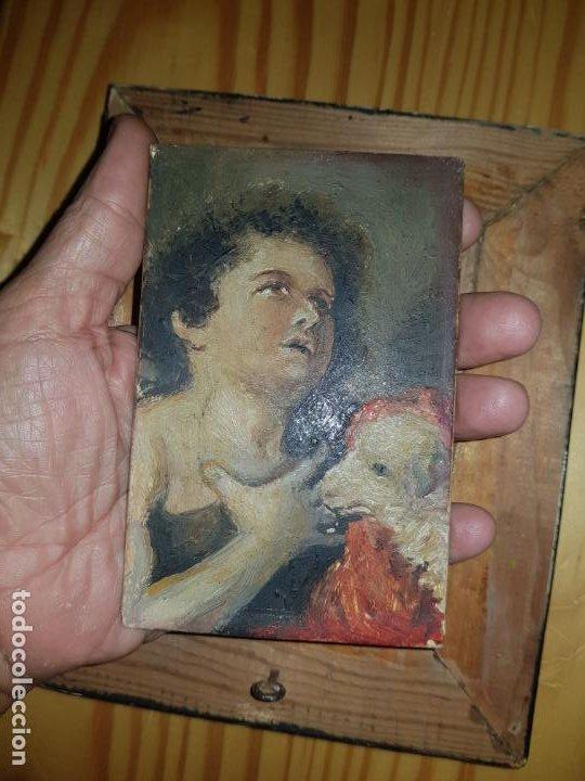 Arte: Miniatura de cuadro oleo sobre lienzo - Foto 2 - 187231943