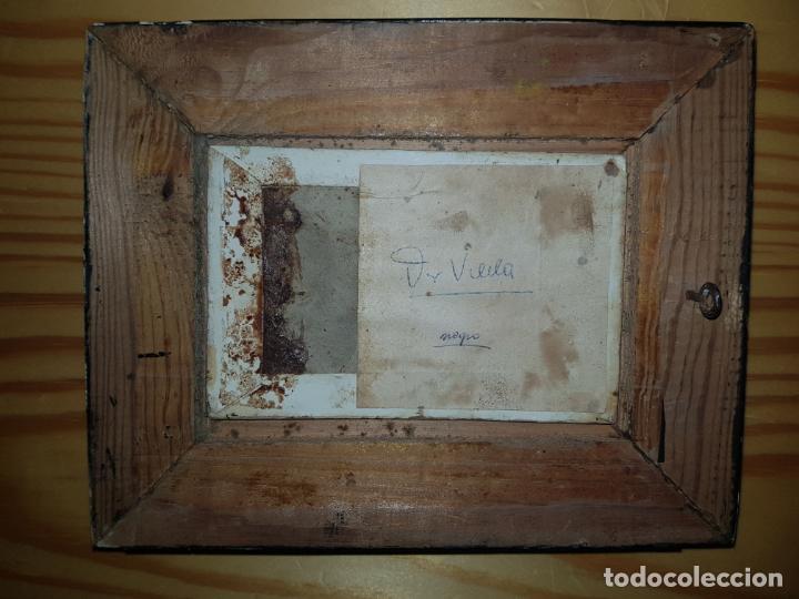 Arte: Miniatura de cuadro oleo sobre lienzo - Foto 3 - 187231943