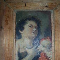 Arte: MINIATURA DE CUADRO OLEO SOBRE LIENZO . Lote 187231943