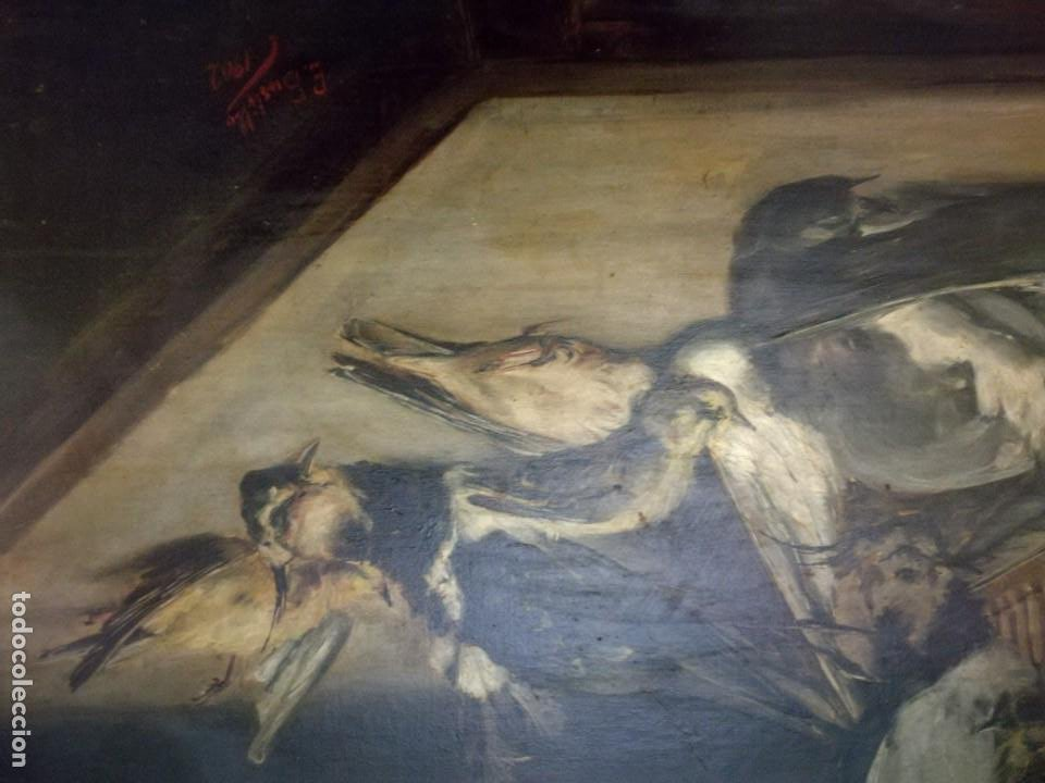 Arte: Encarnación Bustillo Salomón (Burgos, 1876 - ?) Y las flores y caza muerta. - Foto 3 - 187391926