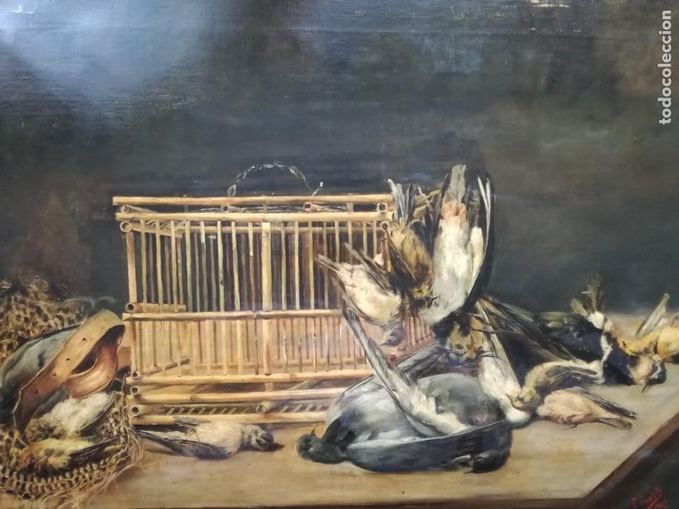 Arte: Encarnación Bustillo Salomón (Burgos, 1876 - ?) Y las flores y caza muerta. - Foto 4 - 187391926