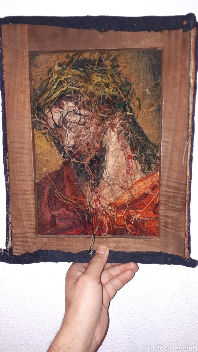 Arte: Imágene de Jesús en tapiz hecho a mano con lana y algodón - Foto 2 - 187421108