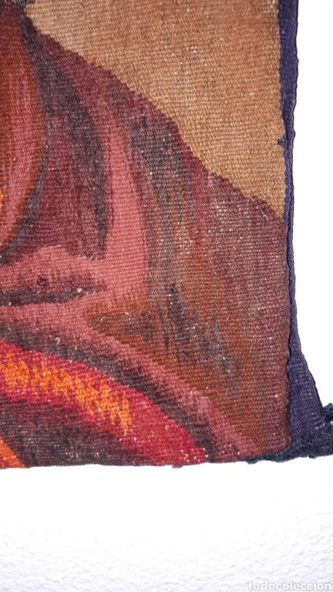 Arte: Imágene de Jesús en tapiz hecho a mano con lana y algodón - Foto 3 - 187421108