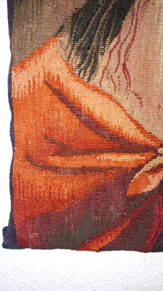 Arte: Imágene de Jesús en tapiz hecho a mano con lana y algodón - Foto 4 - 187421108