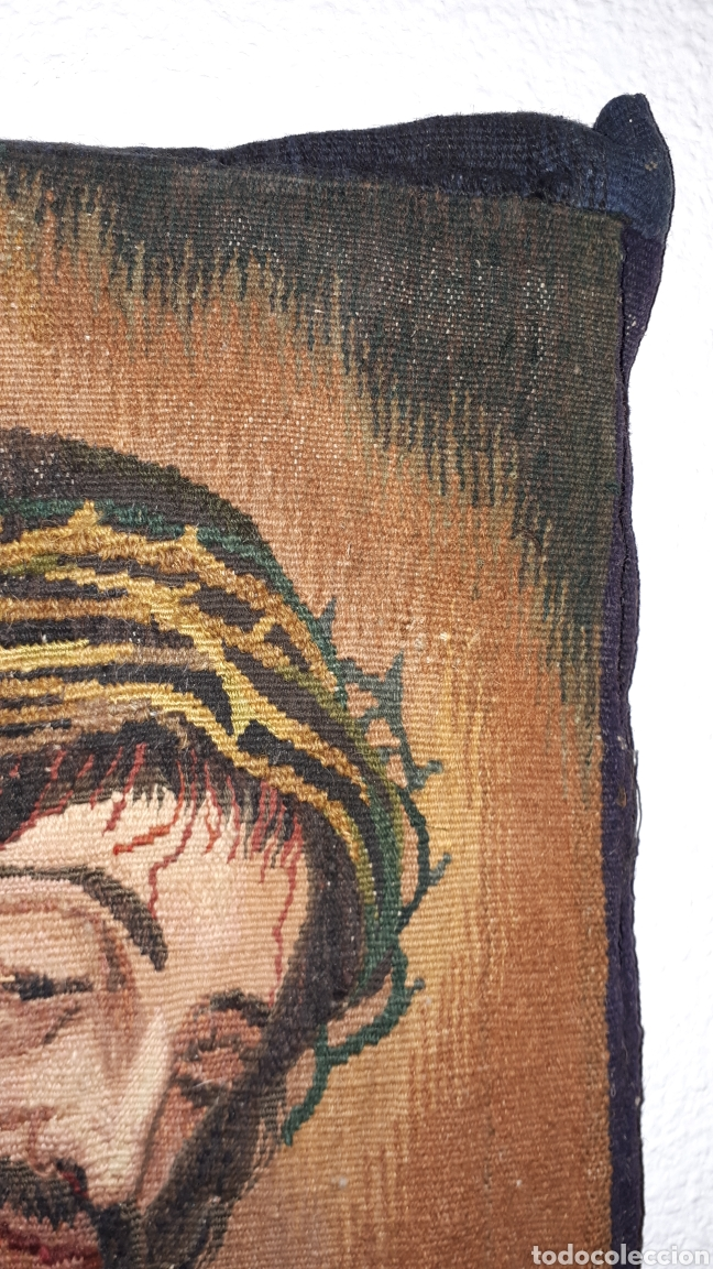 Arte: Imágene de Jesús en tapiz hecho a mano con lana y algodón - Foto 6 - 187421108