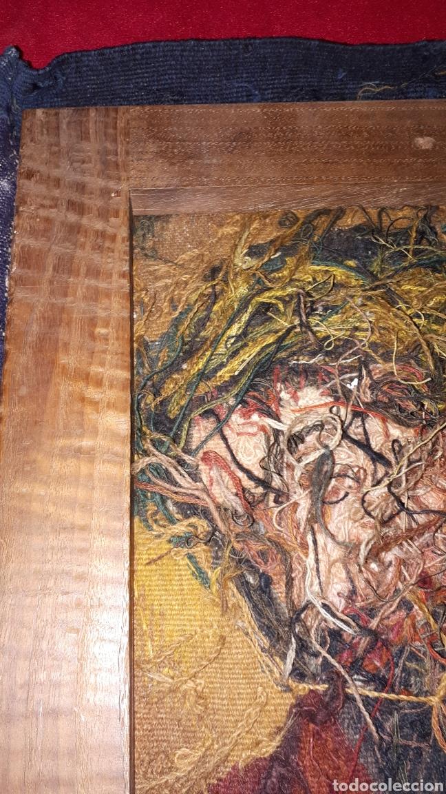 Arte: Imágene de Jesús en tapiz hecho a mano con lana y algodón - Foto 11 - 187421108