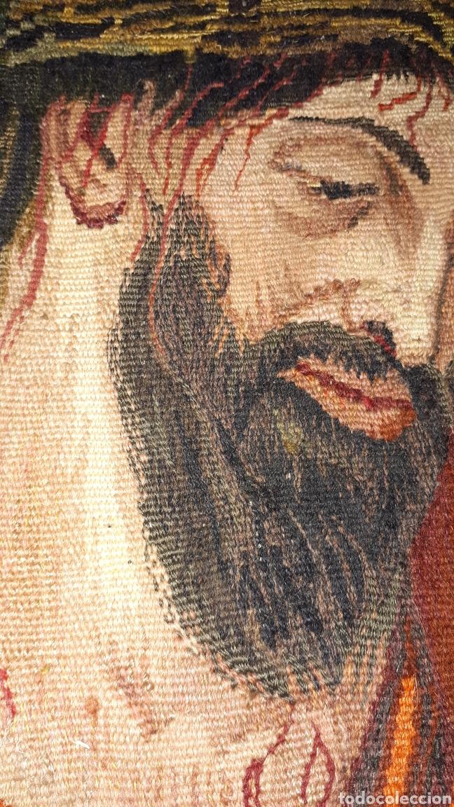 Arte: Imágene de Jesús en tapiz hecho a mano con lana y algodón - Foto 12 - 187421108