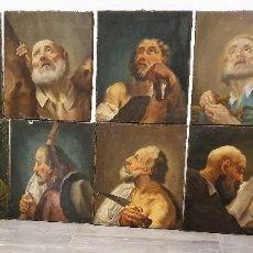 Arte: MAGNIFICA COLECCION DE OLEOS SOBRE LIENZO DE LOS 12 APOSTOLES. Lote 187447375