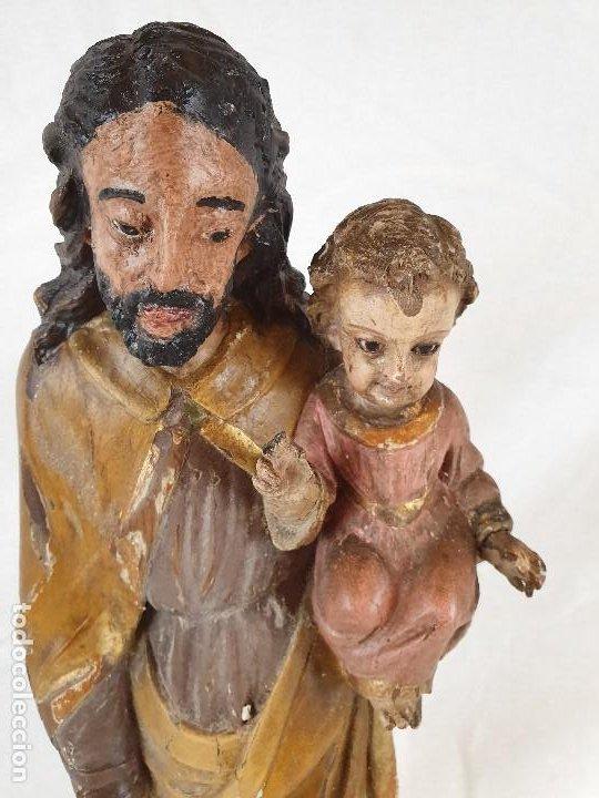 ANTIGUA TALLA DE SAN JOSE CON NIÑO (Arte - Arte Religioso - Escultura)