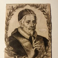 Arte: CLEMENS X RETRATO GRABADO EN COBRE POR F. BOUTTATS S. XVII. CA 1670. 14X9 CM. Lote 187469162