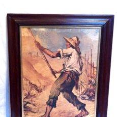 Arte: CARTEL CAMPESINOS, CARTEL TRABAJO CAMPO, CARTEL DE UNTURBE, CARTEL COLOR, CARTEL 1960, MARCO XIX. Lote 187488106