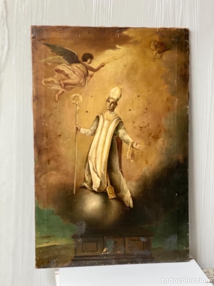 Arte: San Narciso , patrón de Gerona, milagro de las moscas, siglo XIX - Foto 3 - 183973685
