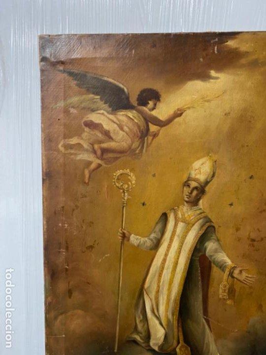 Arte: San Narciso , patrón de Gerona, milagro de las moscas, siglo XIX - Foto 4 - 183973685