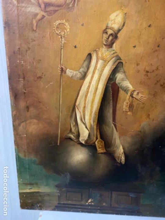 Arte: San Narciso , patrón de Gerona, milagro de las moscas, siglo XIX - Foto 5 - 183973685