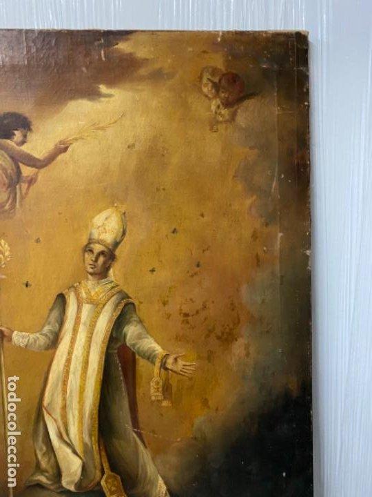 Arte: San Narciso , patrón de Gerona, milagro de las moscas, siglo XIX - Foto 6 - 183973685