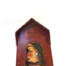 Arte: VIRGEN CON CAPILLA DE MADERA, BUSTO VIRGEN CON NIÑO, VIRGEN CON HORNACINA. Lote 187511681