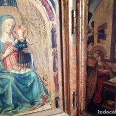 Arte: TRÍPTICO AVE GRACIA PLENA, EN MADERA, POLICROMADO Y PAN DE ORO.. Lote 187580941