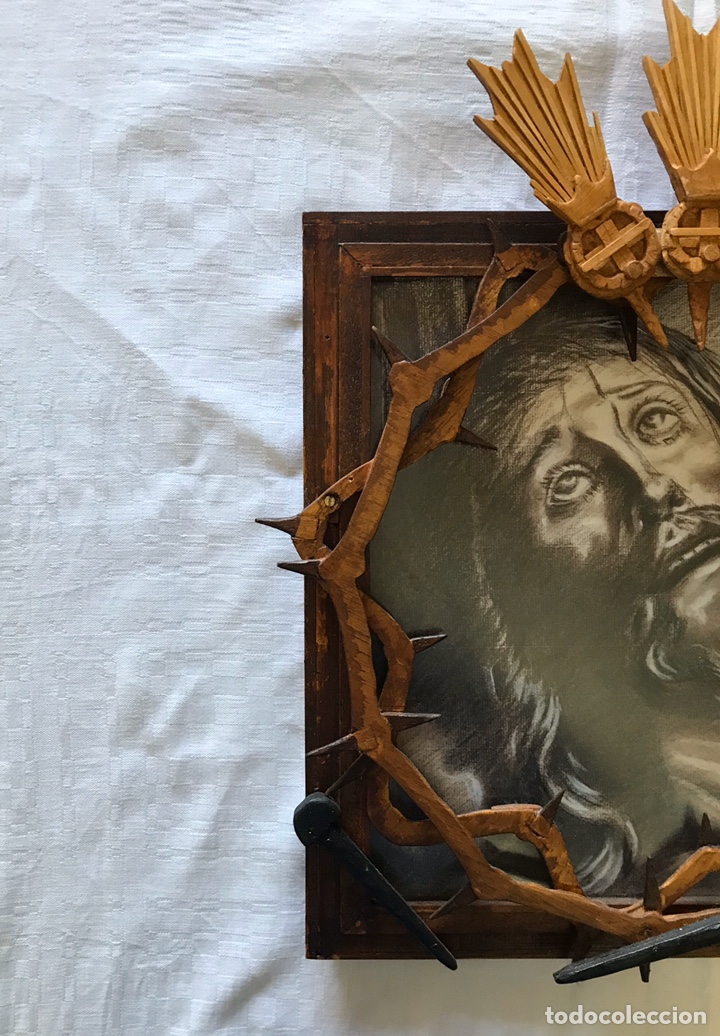 Arte: SEMANA SANTA SEVILLA. ESPECTACULAR DIBUJO ENMARCADO. CRISTO DE LA EXPIRACIÓN - EL CACHORRO -. TRIANA - Foto 3 - 187593638