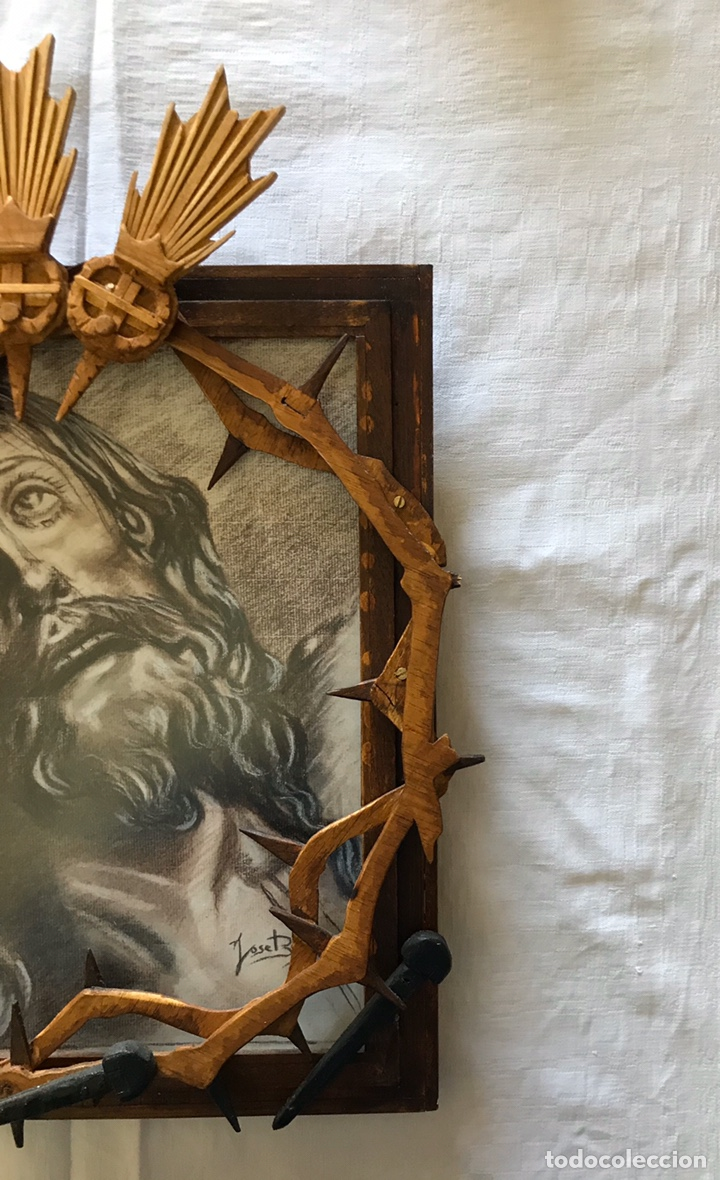 Arte: SEMANA SANTA SEVILLA. ESPECTACULAR DIBUJO ENMARCADO. CRISTO DE LA EXPIRACIÓN - EL CACHORRO -. TRIANA - Foto 4 - 187593638