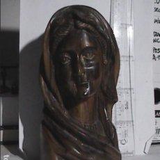 Art: EXCELENTE ESCULTURA - TALLA EN MADERA DE OLIVO. VIRGEN MARIA. BETHLEHEM. ISRAEL.. Lote 188587545