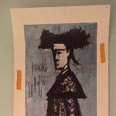 Arte: LITOGRAFÍA 'MATADOR' BERNARD BUFFET 58, NUMERADA. Lote 188746411