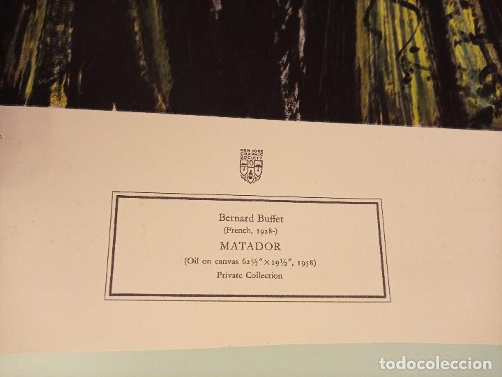 Arte: LITOGRAFÍA Matador BERNARD BUFFET 58, NUMERADA - Foto 9 - 188746411