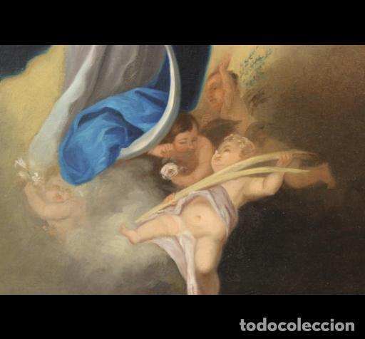 Arte: INMACULADA CONCEPCIÓN TIPO MURILLO. SIGLO XIX. 63X45 LIENZO. ESCUELA ANDALUZA. - Foto 3 - 188772178