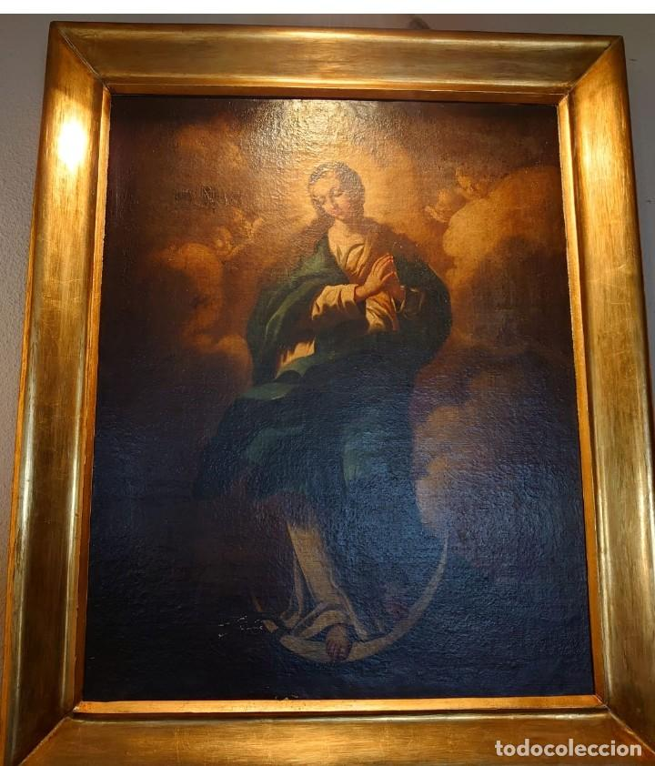 ÓLEO SOBRE LIENZO INMACULADA CONCEPCIÓN SIGLO XVII (Arte - Arte Religioso - Pintura Religiosa - Oleo)