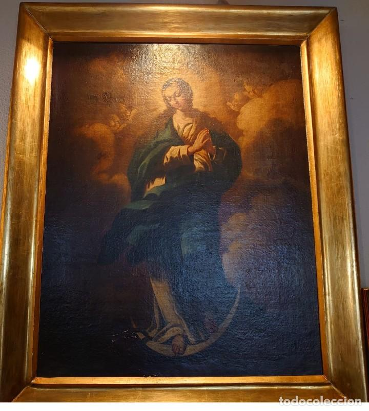 Arte: ÓLEO SOBRE LIENZO INMACULADA CONCEPCIÓN SIGLO XVII - Foto 2 - 188788421