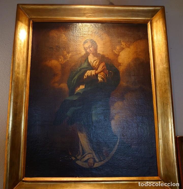 Arte: ÓLEO SOBRE LIENZO INMACULADA CONCEPCIÓN SIGLO XVII - Foto 4 - 188788421