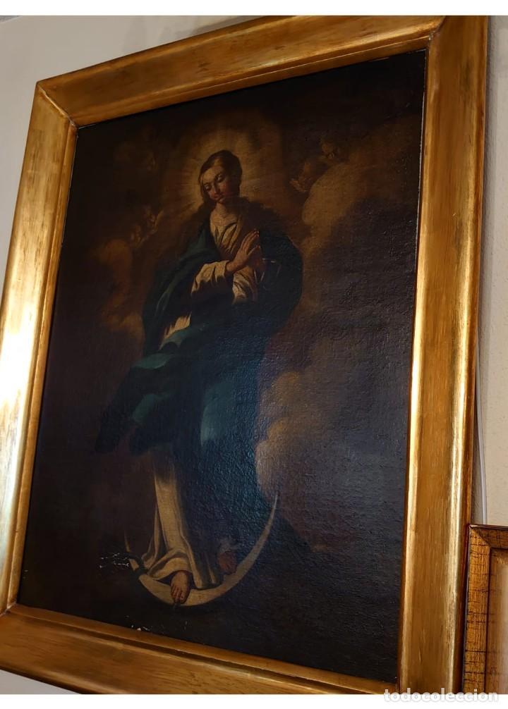 Arte: ÓLEO SOBRE LIENZO INMACULADA CONCEPCIÓN SIGLO XVII - Foto 7 - 188788421