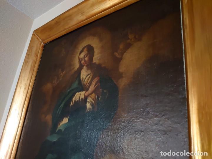 Arte: ÓLEO SOBRE LIENZO INMACULADA CONCEPCIÓN SIGLO XVII - Foto 8 - 188788421