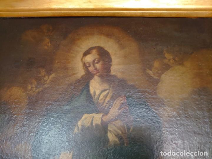 Arte: ÓLEO SOBRE LIENZO INMACULADA CONCEPCIÓN SIGLO XVII - Foto 10 - 188788421