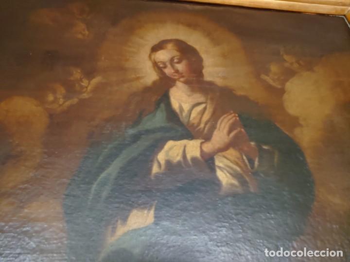 Arte: ÓLEO SOBRE LIENZO INMACULADA CONCEPCIÓN SIGLO XVII - Foto 12 - 188788421