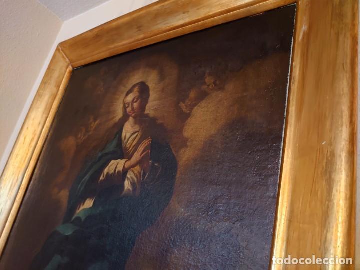 Arte: ÓLEO SOBRE LIENZO INMACULADA CONCEPCIÓN SIGLO XVII - Foto 13 - 188788421