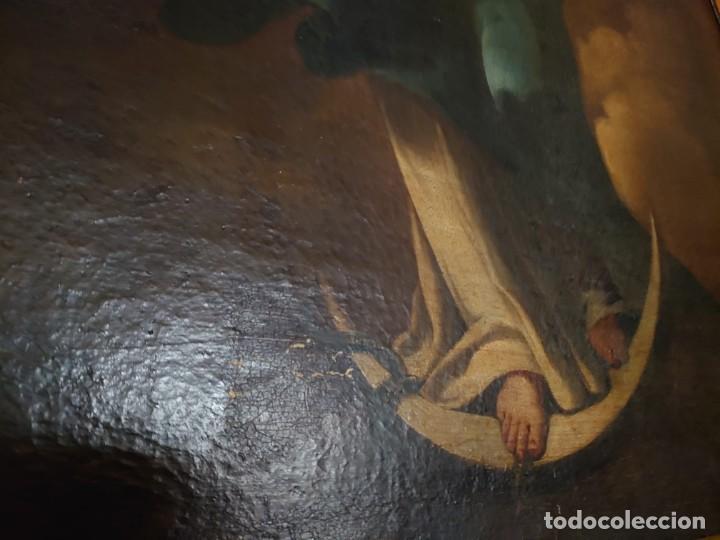 Arte: ÓLEO SOBRE LIENZO INMACULADA CONCEPCIÓN SIGLO XVII - Foto 21 - 188788421