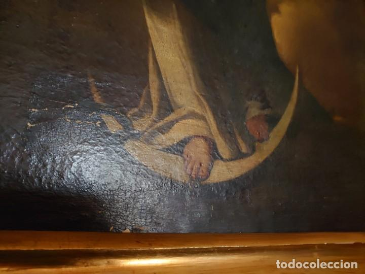 Arte: ÓLEO SOBRE LIENZO INMACULADA CONCEPCIÓN SIGLO XVII - Foto 22 - 188788421